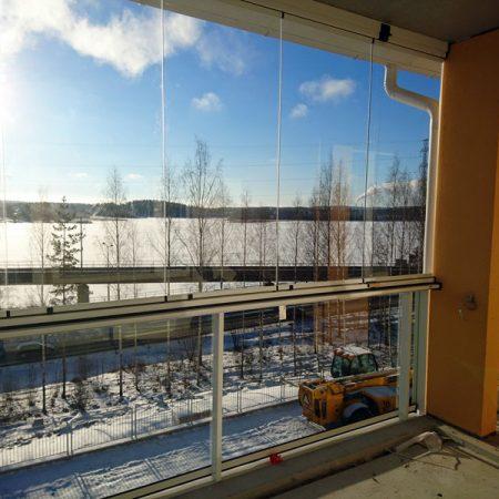 Tiirantie 10 Jyväskylä rakennustyöt helmikuussa 2017