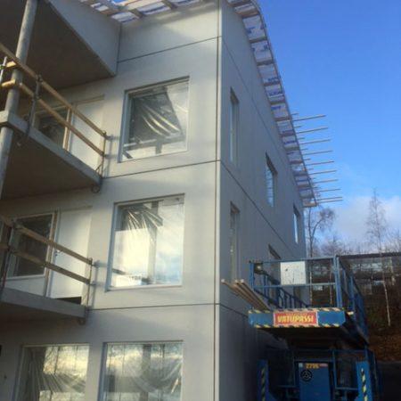 Tiirantie 10 Jyväskylä rakennustyöt lokakuussa 2016