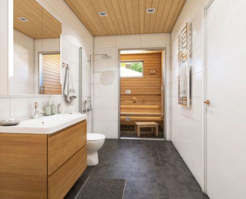 Lavaniitynkuja 9 Espoo kylpyhuone